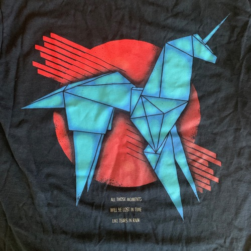 BLADE RUNNER Origami Unicorn (S) (USED) T-SHIRT