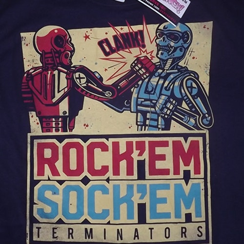 TERMINATOR Rock 'Em Sock 'Em (S) (NEW) T-SHIRT