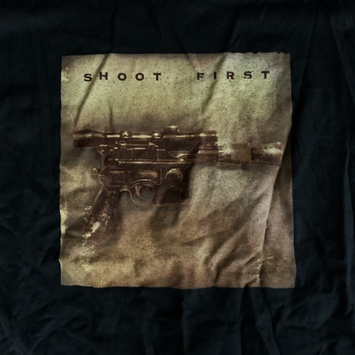 STAR WARS Shoot First (L) (USED) T-SHIRT