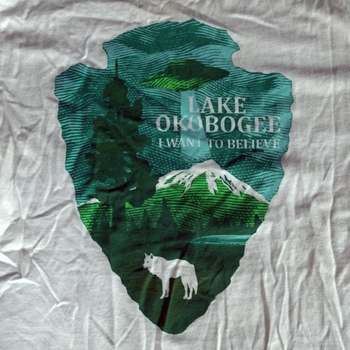 X-FILES, the Lake Okobogee (S) (USED) T-SHIRT