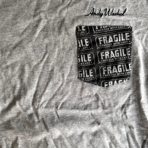 ANDY WARHOL Fragile (S) (NEW) T-SHIRT