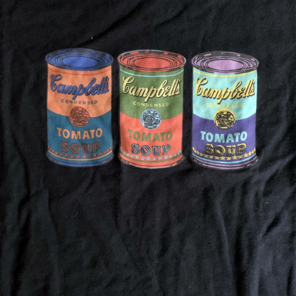 ANDY WARHOL Campbell's Soup (M) (NEW) T-SHIRT