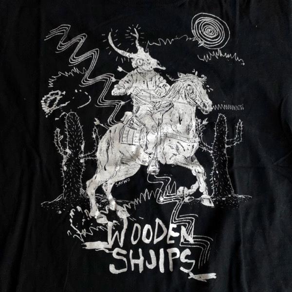 WOODEN SHJIPS Horse (S) T-SHIRT