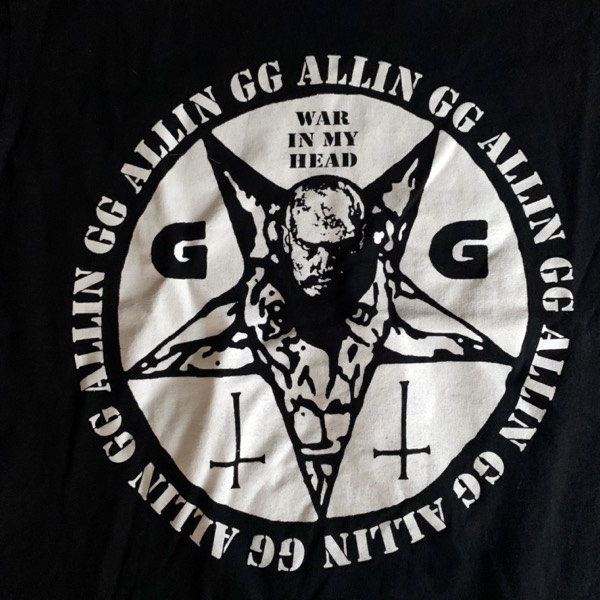 GG ALLIN I'm Your Enemy (S) (USED) T-SHIRT