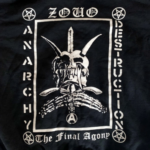ZOUO Anarchy Destruction (S) (USED) HOODIE