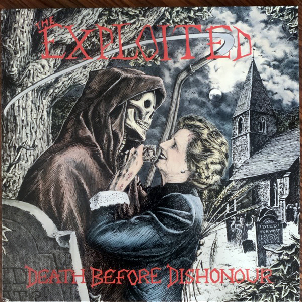 EXPLOITED, the Death Before Dishonour (Rough Justice - UK original) (VG+) LP