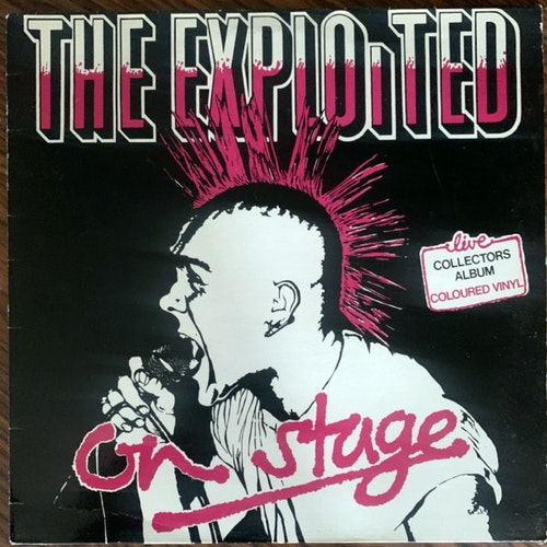 EXPLOITED, the On Stage (Clear vinyl) (The Exploited Record Company - UK original) (VG/VG+) LP