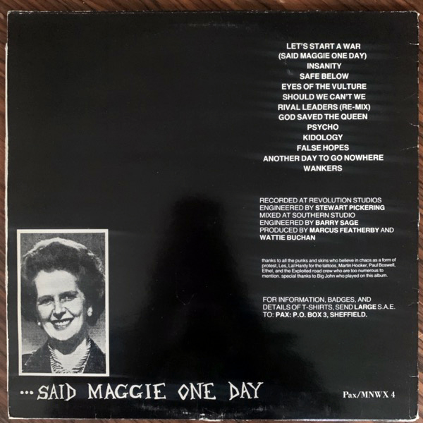 EXPLOITED, the Let's Start A War... ...Said Maggie One Day (MNW - Sweden original) (VG-/VG) LP