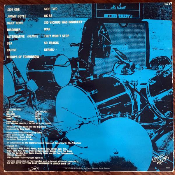EXPLOITED, the Troops Of Tomorrow (Secret - Scandinavia original) (VG+) LP