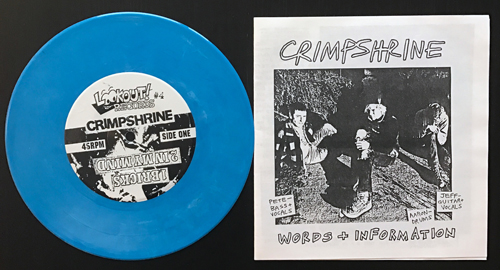 CRIMPSHRINE Sleep, What's That? (Blue marbled vinyl) (Lookout - USA original) (EX) 7""