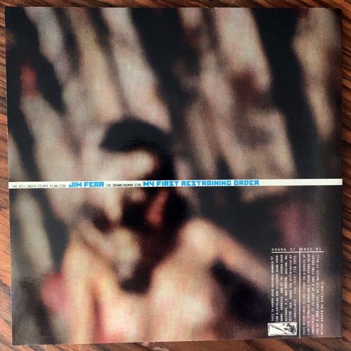 "DILLINGER ESCAPE PLAN, the / DROWNINGMAN Jim Fear / My First Restraining Order (Blue vinyl) (EX) 7"""
