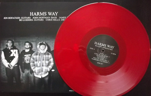 HARMS WAY Reality Approaches (Red vinyl) (Organized Crime - USA original) (EX) LP