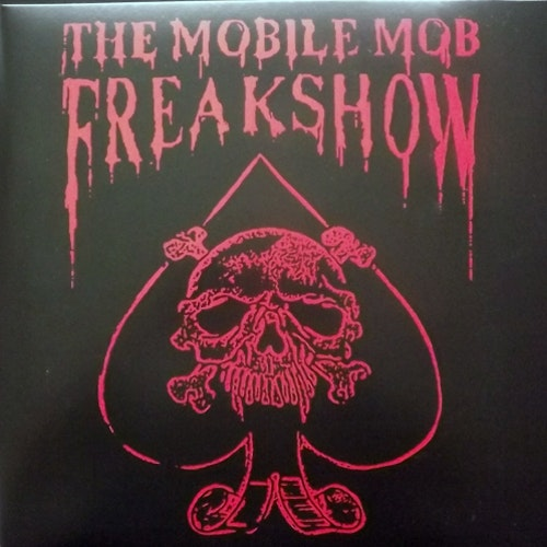 MOBILE MOB FREAKSHOW, the Horror Freakshow (Die hard w/ patch. Splatter vinyl.) (Night Tripper - Sweden reissue) (NEW) LP