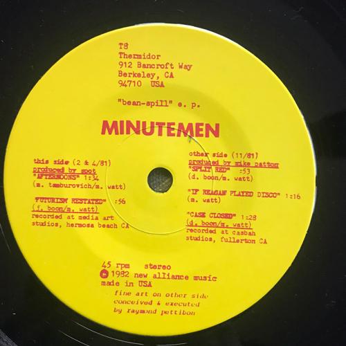 """MINUTEMEN """"Bean-Spill"""" E. P. (Thermidor - USA original) (VG+) 7"""""""