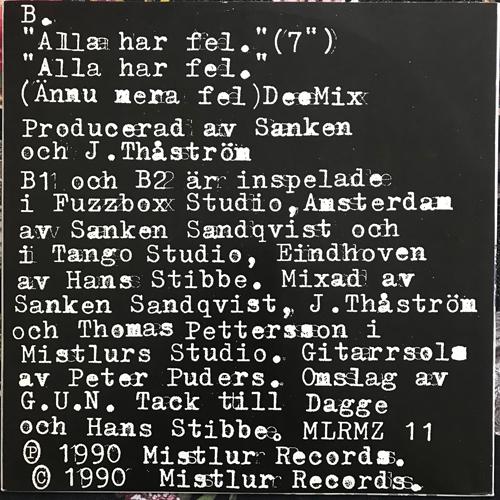 "THÅSTRÖM Alla Har Fel (Mistlur - Sweden original) (EX/VG+) 12"""