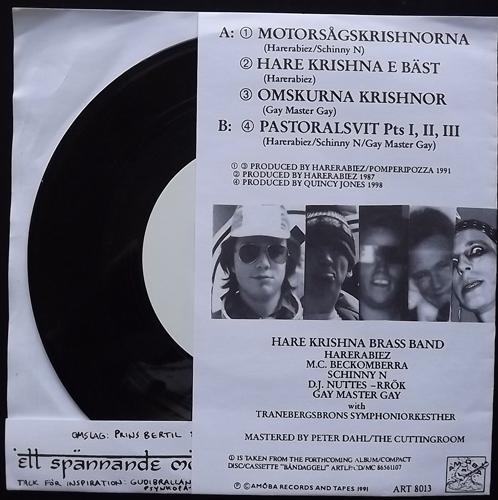 """HARE KRISHNA BRASS BAND Motorsågskrishnorna Och Andra Hymner... (Amöba - Sweden original) (VG+) 7"""""""