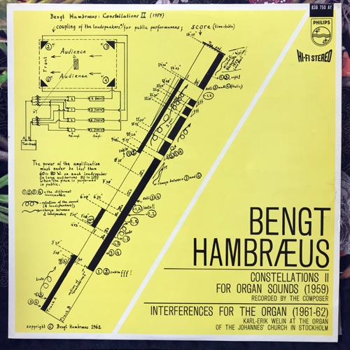 BENGT HAMBRÆUS Constellations & Interferences (Philips - Sweden repress) (VG+) LP