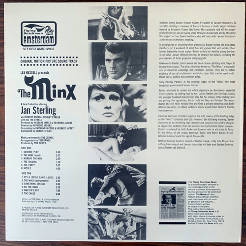 SOUNDTRACK The Cyrkle ‎– The Minx (Flying Dutchman - USA reissue) (VG+) LP