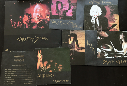 "CHRISTIAN DEATH Jesus Christ Proudly Presents (Normal - Germany original) (VG+) 6x7"" BOX"