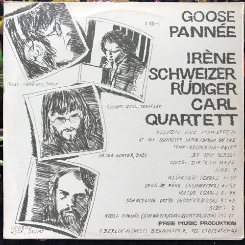 SCHWEIZER-CARL-QUARTET Goose Pannée (FMP - Germany original) (VG/EX) LP