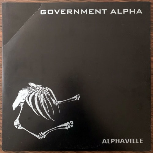 GOVERNMENT APLHA Alphaville (Blue vinyl) (Segerhuva - Sweden original) (VG+) LP