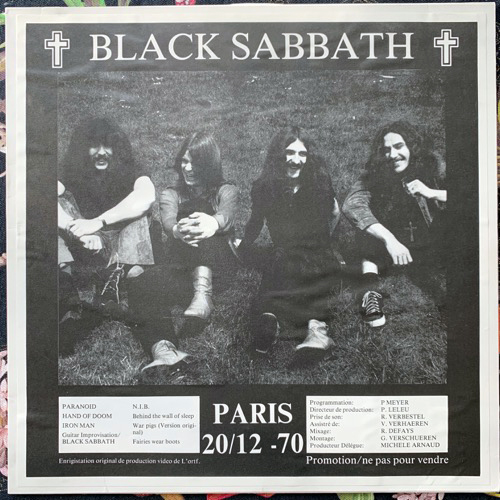 BLACK SABBATH Paris 20/12 - 70 (No label - France unofficial release) (VG+/EX) LP