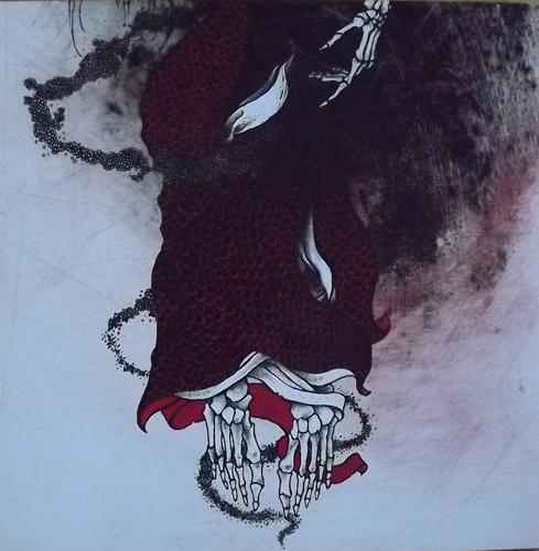 COFFINS/THE ARM AND SWORD OF A BASTARD GOD Split (Red vinyl. Incl. slipmat) (Enucleation - USA original) (NM) LP