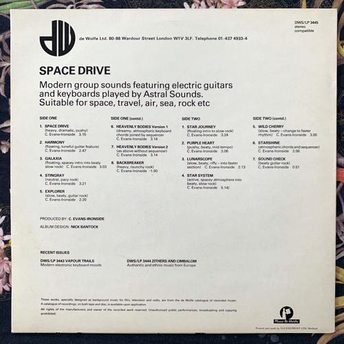 ASTRAL SOUNDS Space Drive (Music De Wolfe - UK original) (EX/NM) LP