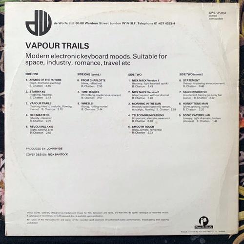 BRIAN CHATTON Vapour Trails (Music De Wolfe - UK original) (VG/VG+) LP