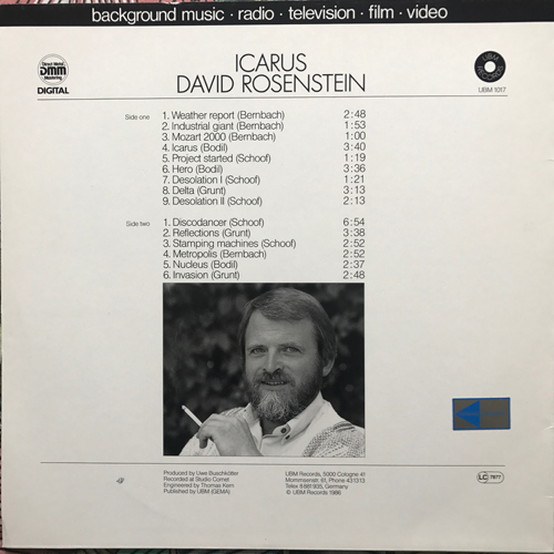 DAVID ROSENSTEIN Icarus (UBM - Germany original) (EX) LP