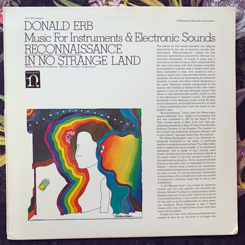 DONALD ERB Music For Instruments & Electronic Sounds (Nonesuch - USA original) (VG+) LP