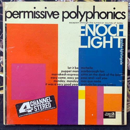 ENOCH LIGHT AND THE LIGHT BRIGADE Permissive Polyphonics (Project 3 Total Sound - USA original) (VG/VG+) LP