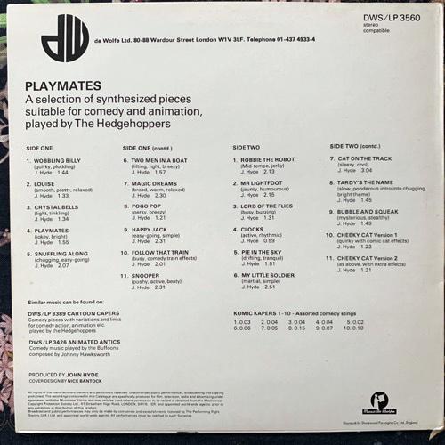 HEDGEHOPPERS, the Playmates (Music De Wolfe - UK original) (VG+) LP
