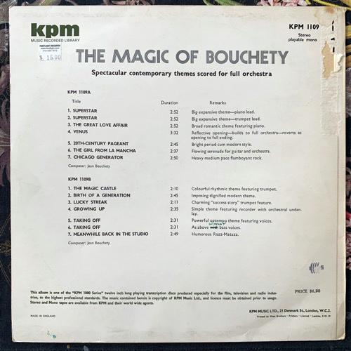 JEAN BOUCHÉTY The Magic Of Bouchety (KPM - UK original) (VG/VG+) LP