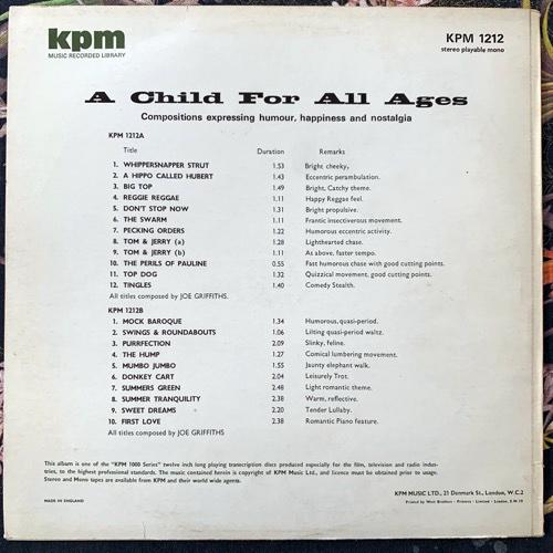 JOE GRIFFITHS A Child For All Ages (KPM - UK original) (VG+) LP