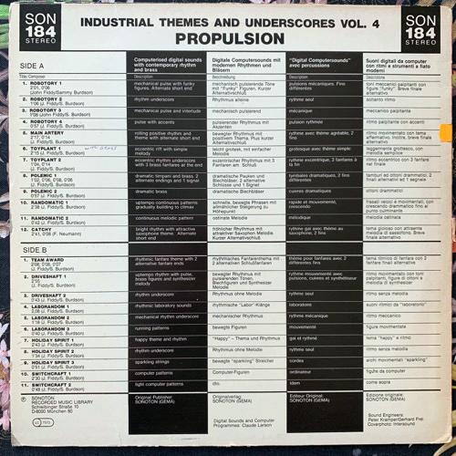 JOHN FIDDY Industrial Themes & Underscores Vol. 4: Propulsion (Sondon - Germany original) (VG/EX) LP