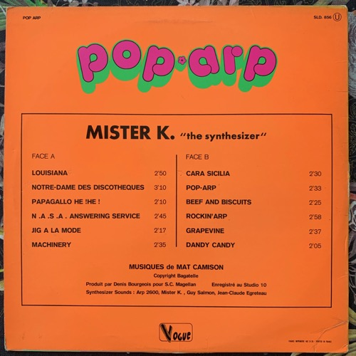 MISTER K Pop' Arp (Disques Vogue - France original) (VG/VG+) LP