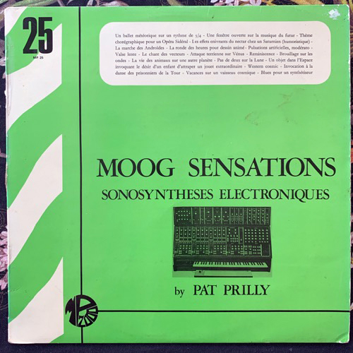 PAT PRILLY Moog Sensations (Sonosyntheses Electroniques) (Editions Montparnasse 2000 - France original) (VG/VG-) LP