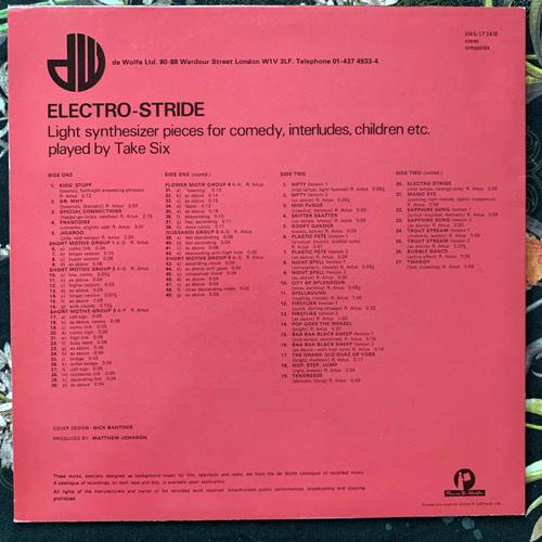 TAKE SIX Electro-Stride (Music De Wolfe - UK original) (VG+/EX) LP