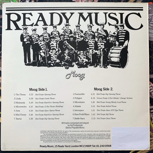 VAL PODLASINSKI Moog (Ready Music - UK original) (VG+/EX) LP