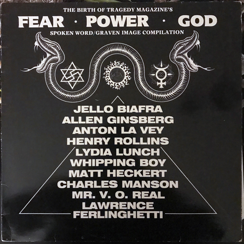 VARIOUS The Birth Of Tragedy Magazine's Fear, Power, God (Workers Playtime - UK original) (VG/VG+) LP