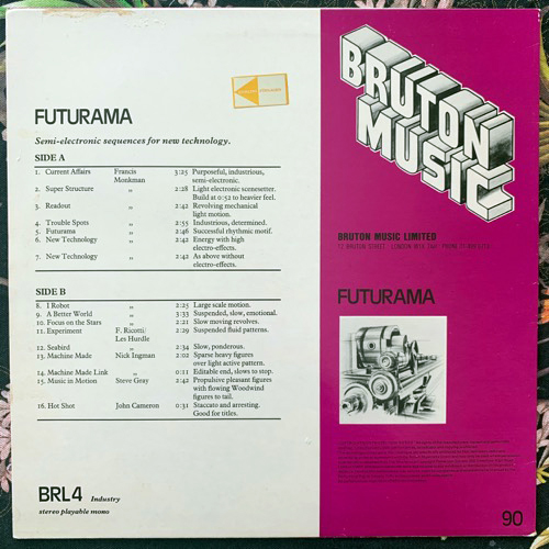 VARIOUS Futurama (Bruton Music - UK original) (VG/EX) LP