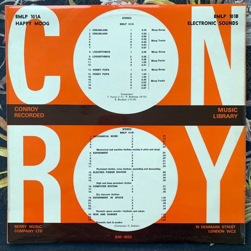 VARIOUS Happy Moog/Electronic Sounds (Conroy - UK original) (VG+) LP