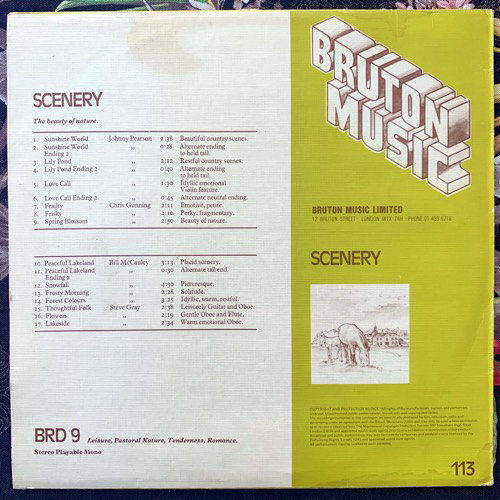 VARIOUS Scenery (Bruton Music - UK original) (VG/EX) LP