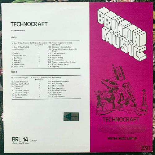 VARIOUS Technocraft (Bruton Music - UK original) (VG+/EX) LP