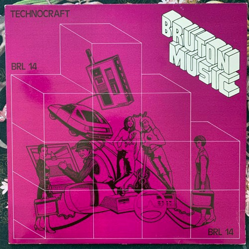 VARIOUS Technocraft (Bruton Music - UK original) (VG+/EX) LP