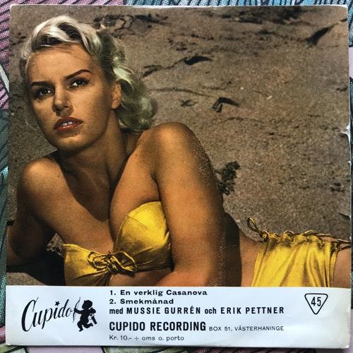 "MUSSIE GURRÉN OCH ERIK PETTNER Syndafall I Lusthuset (Cupido - Sweden original) (VG/VG-) 7"""