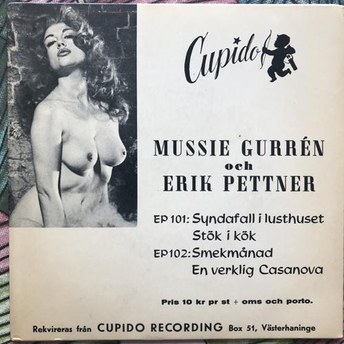 """MUSSIE GURRÉN OCH ERIK PETTNER En verklig Casanova (Cupido - Sweden original) (VG+/VG) 7"""""""