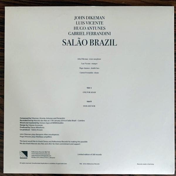 JOHN DIKEMAN, LUÍS VICENTE, HUGO ANTUNES, GABRIEL FERRANDINI Salão Brazil (NoBusiness - Lithuania original) (EX/NM) LP