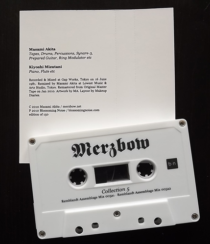 MERZBOW Collection 5 (Blossoming Noise - USA reissue) (NM) TAPE